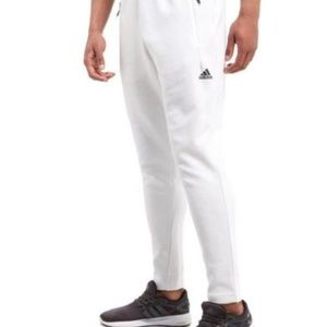 Mens Adidas Stadium Pants - White Tapered Pant